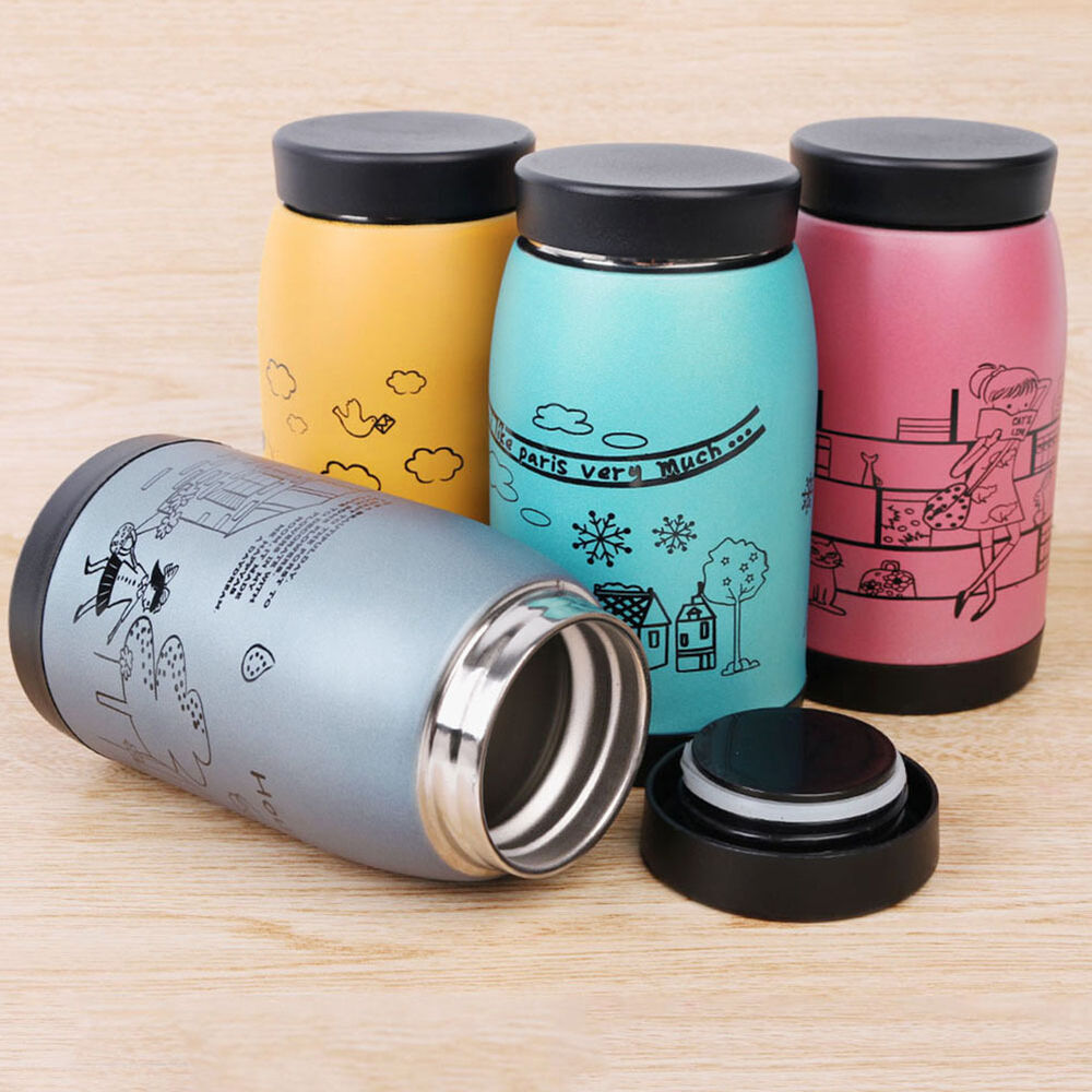 stainless steel 250ml vacuum cup thermos travel coffee insulated flask mug ebay. Black Bedroom Furniture Sets. Home Design Ideas