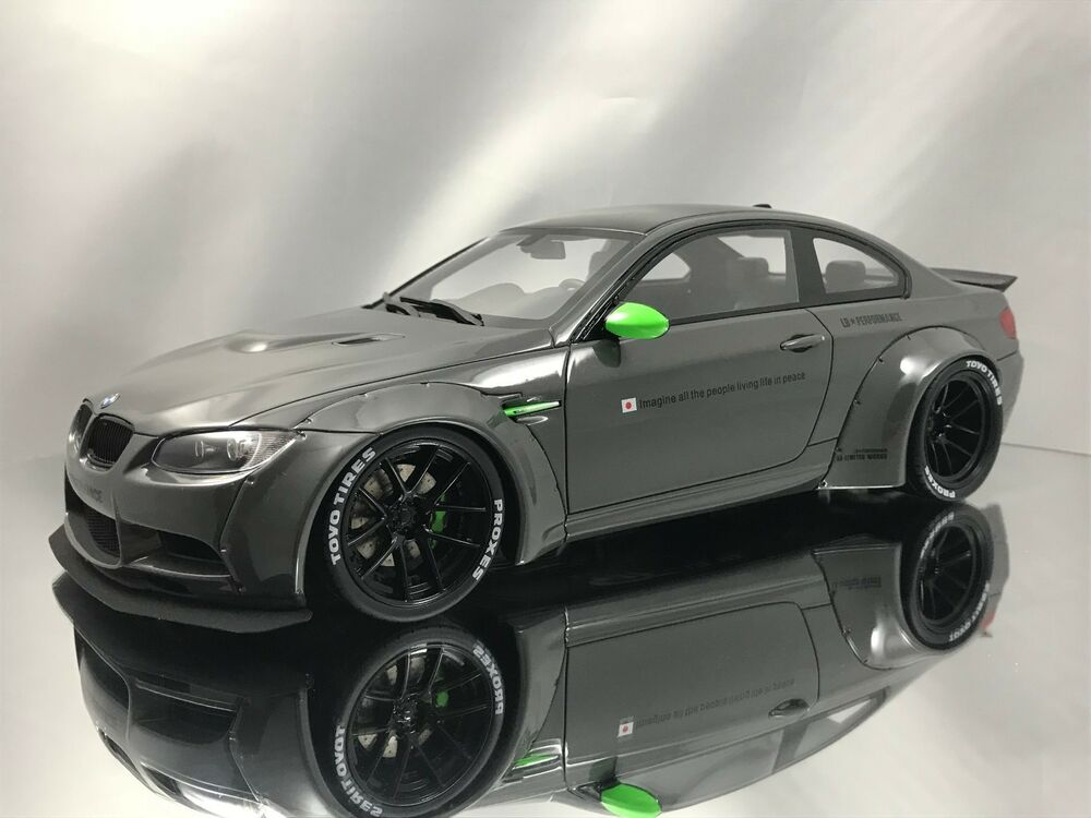 gt spirit bmw m3 e92 lb performance works liberty walk grey resin model 1 18 ebay. Black Bedroom Furniture Sets. Home Design Ideas