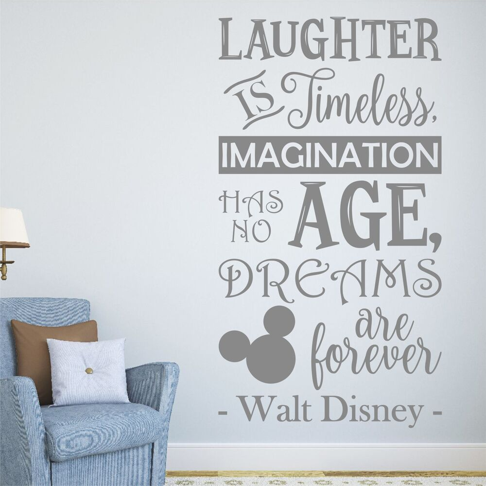 Laughter Is Timeless Walt Disney Quote Wall Sticker Decal