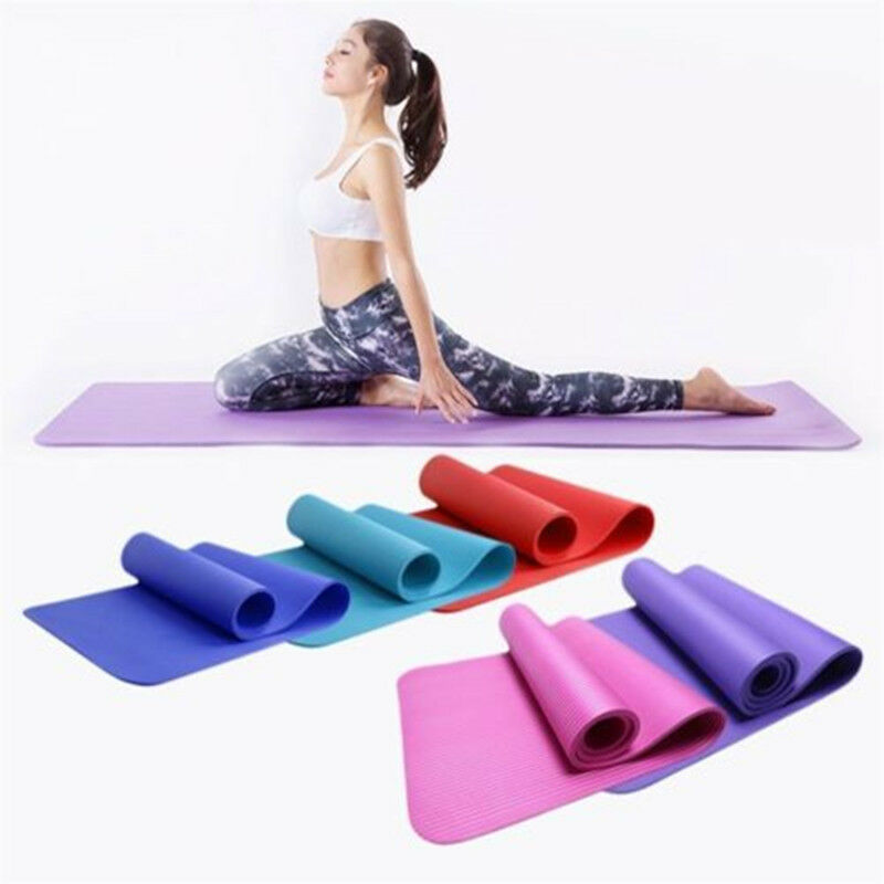 8MM/10MM Yoga Gym Mat Training Thick Cushion Exercise Non