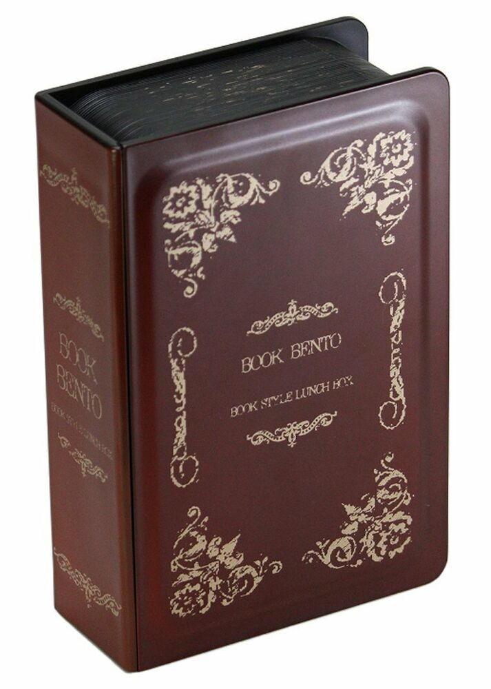 hakoya lunch bento box 52240 book antique red made in japan ebay. Black Bedroom Furniture Sets. Home Design Ideas