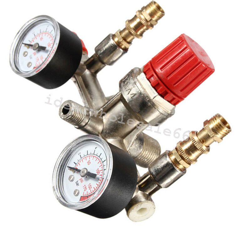 Air compressor pressure switch control valve manifold
