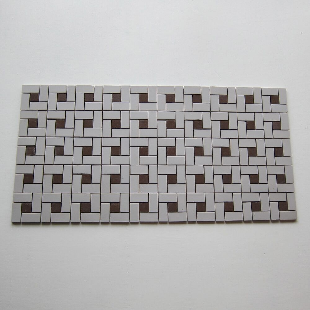 Vintage Porcelain 1950s Floor Tile 599 Sq Ft Available