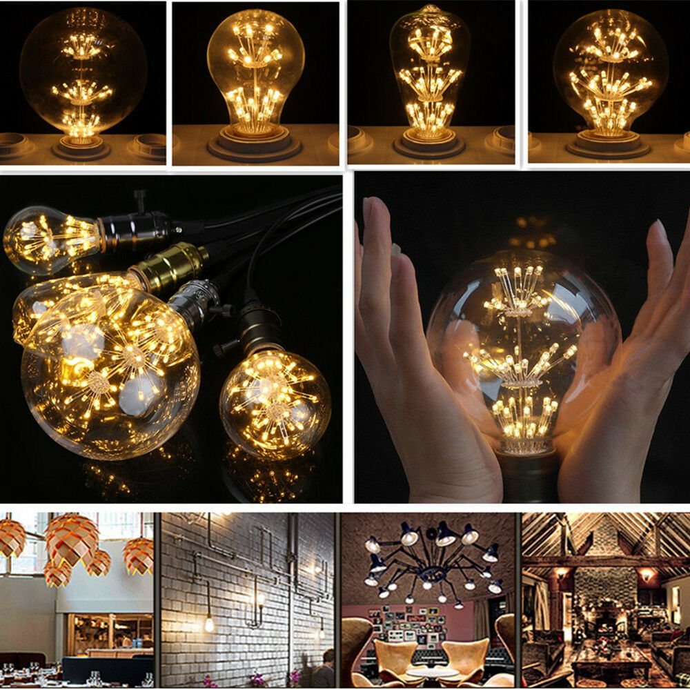 3w e27 led star edison lampade lampadina vintage filament for Lampade a led e27