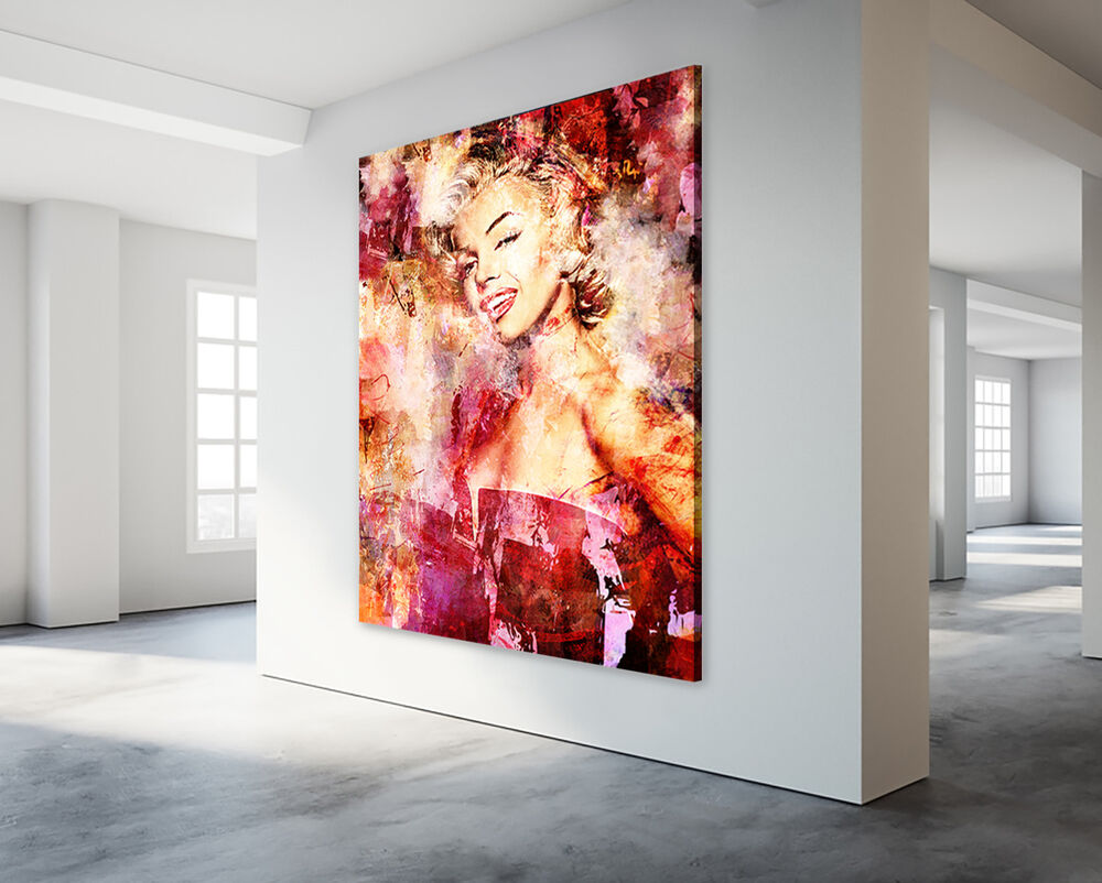 marilyn monroe leinwand bild modern abstrakt poster star ikone xxl ebay. Black Bedroom Furniture Sets. Home Design Ideas