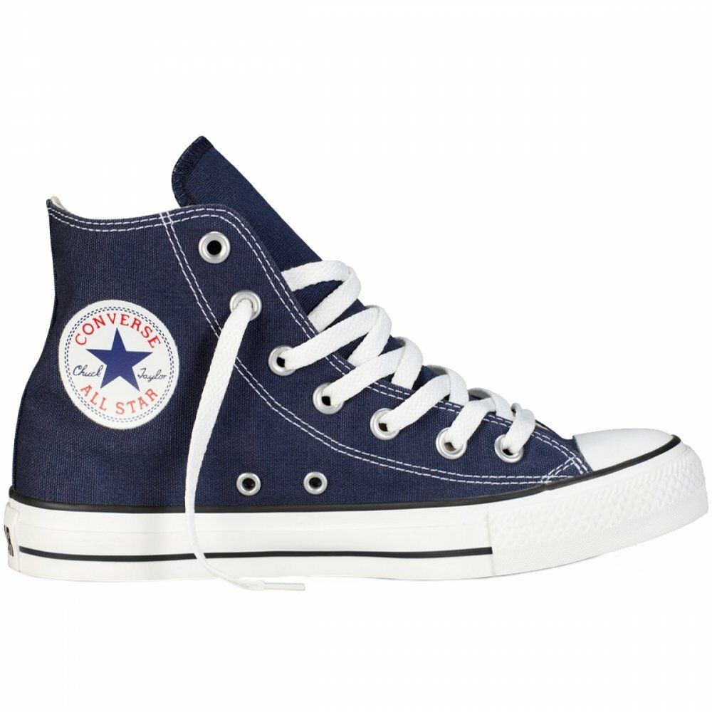 18ebae6c33b Details about Converse Chuck Taylor Star Navy Blue White Hi Top Mens Womens  Shoes Sizes