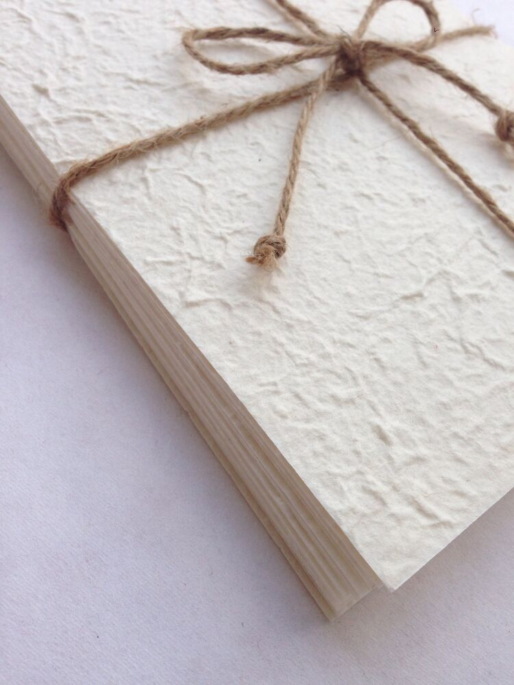 A5 White 20 Sheets of Handmade Mulberry Paper - Tear Bear, Cards, Invitations   eBay