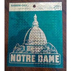 Rainbow-Cals Notre Dame Decal Measures 5 Inches by 5 Inches Forest Green