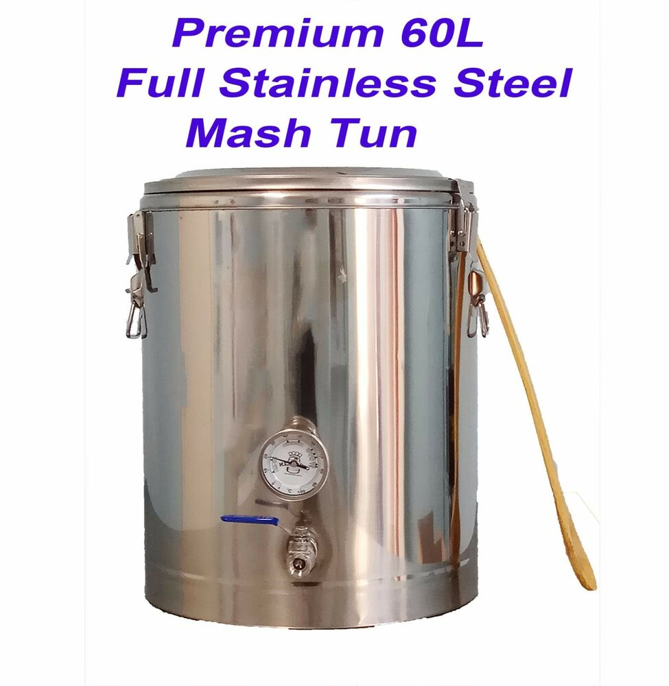 Full Stainless Steel 60l Infusion Mash Tun With False