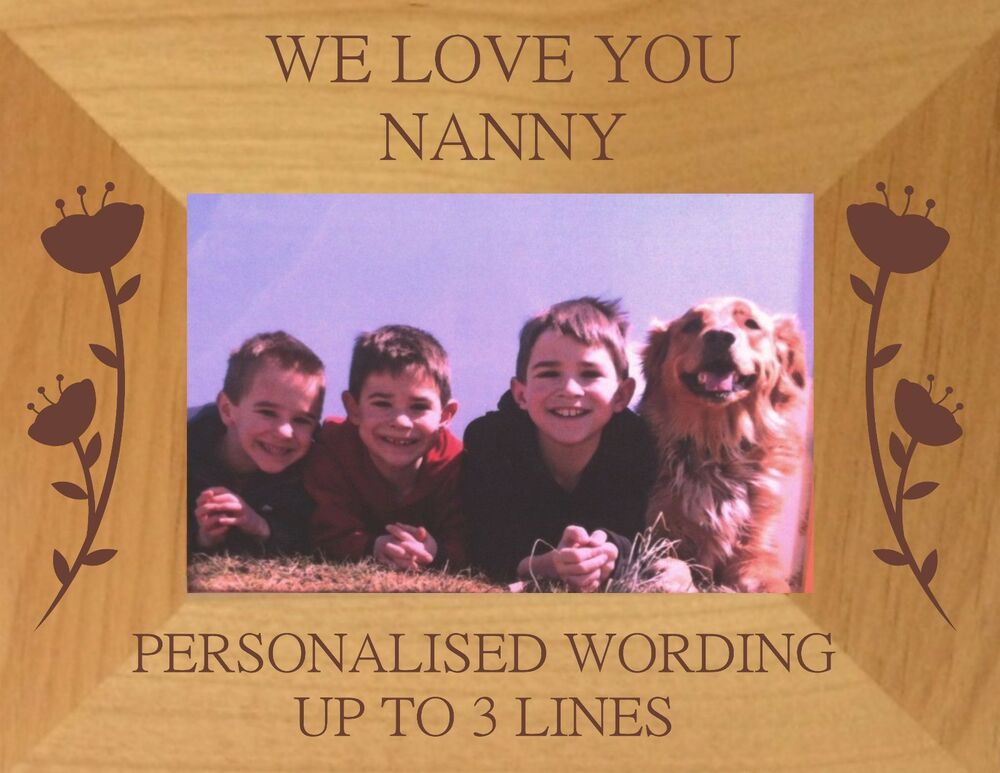 PERSONALISED I / WE LOVE YOU MUMMY NANNY PHOTO FRAME MOTHER\'S DAY ...