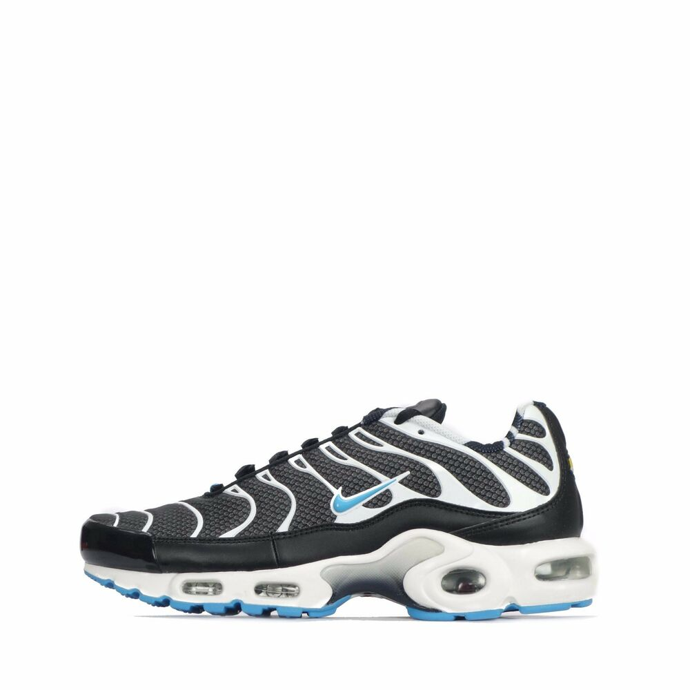 official photos c2fe4 c93ab Details about Nike Air Max Plus TN Tuned Mens Shoes in Black Vivid Blue