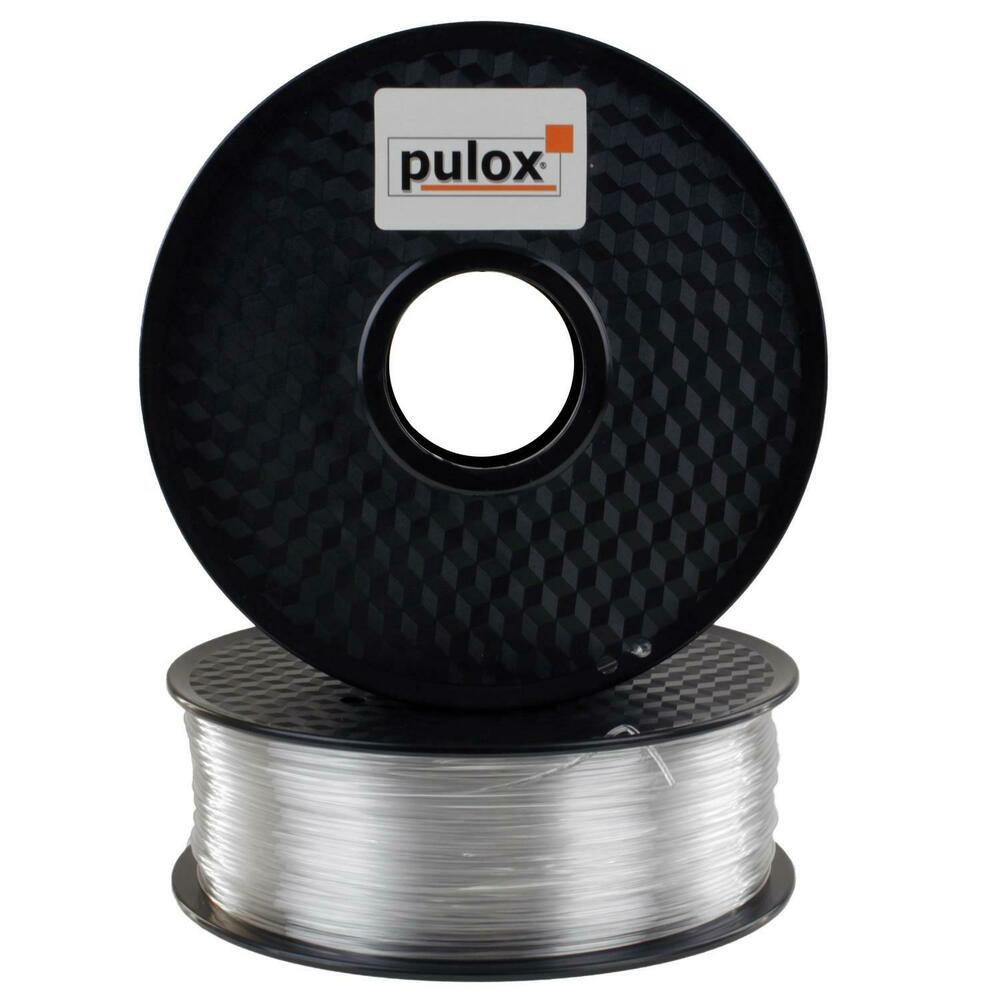 pulox 3d drucker petg filament transparent rolle 1kg ebay. Black Bedroom Furniture Sets. Home Design Ideas