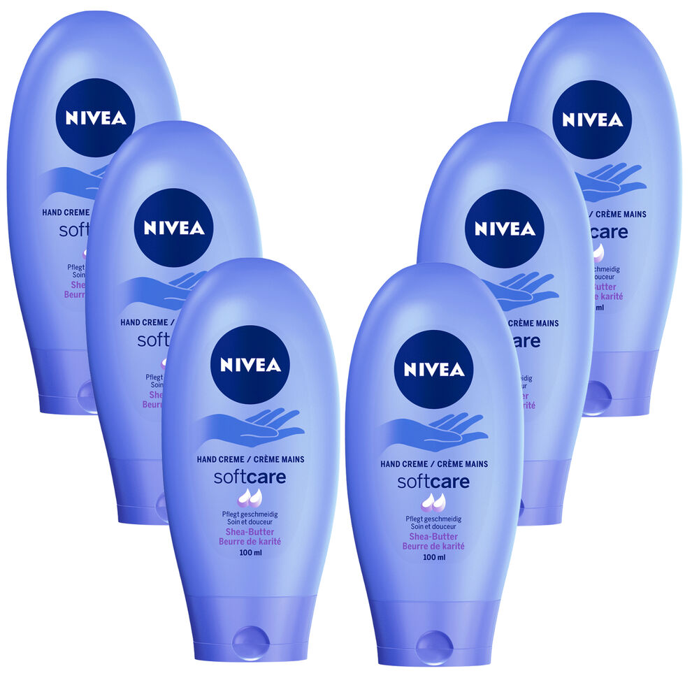 3327 L 6x 100 Ml Nivea Softcare Hand Cream Soft Care Shea Creme Butter Tube 42300335 Ebay