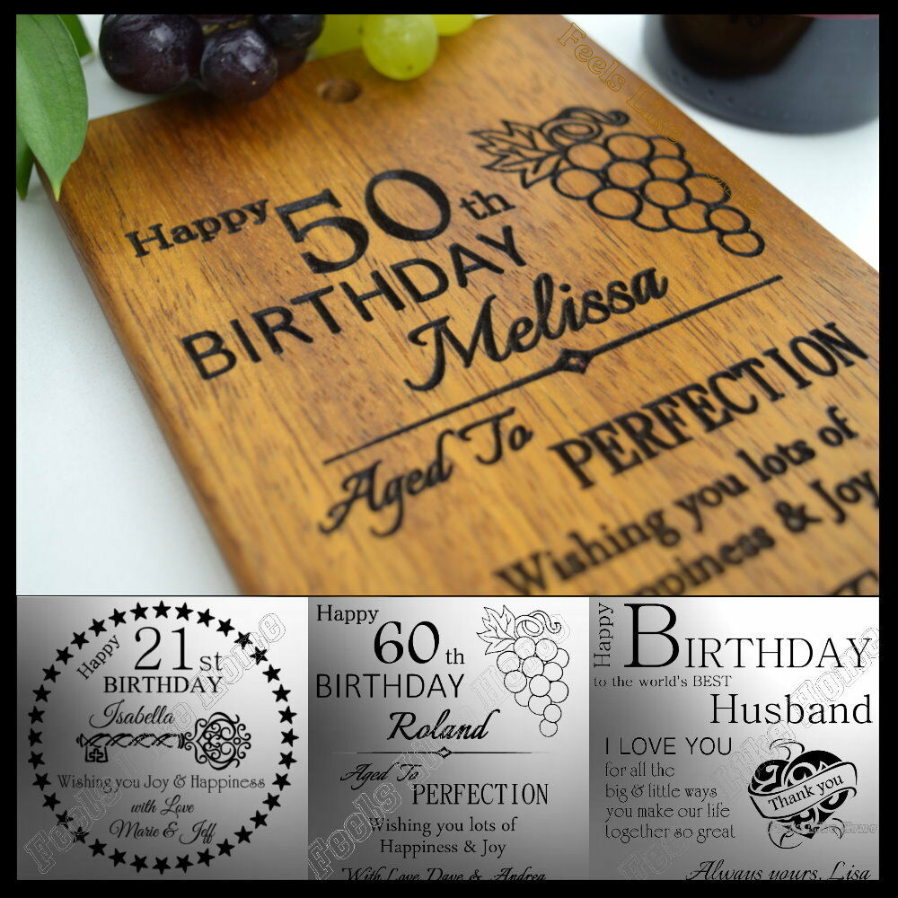 40th 50th 60th Birthday Gifts For Husband Dad Grandad: Personalised Birthday Card 21 30th 40th 50th 60th Gift For