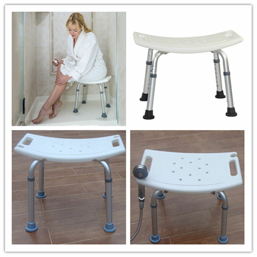 Adjustable 6 Height Medical Bath Tub Shower Chair Bench Stool Seat Without Bafh Ebay