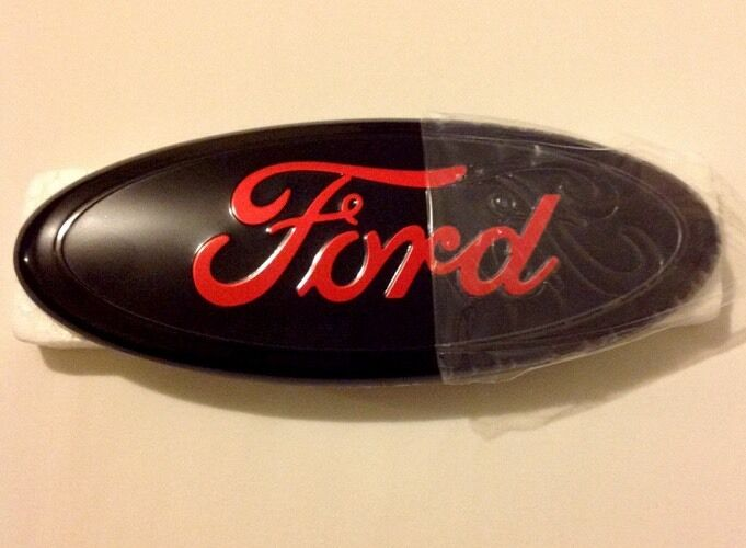 Ford Black And Red Front Grille Or Tail Emblem 9 Quot For F150