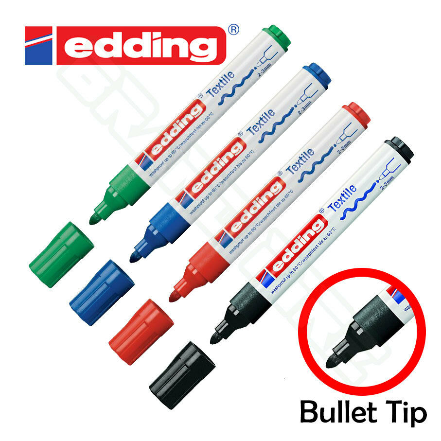 edding 4500 textile fabric permanent marker pen labelling clothes t shirts new ebay. Black Bedroom Furniture Sets. Home Design Ideas