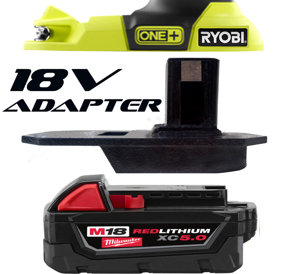 milwaukee cordless blower m18 18v battery adapter to ryobi. Black Bedroom Furniture Sets. Home Design Ideas