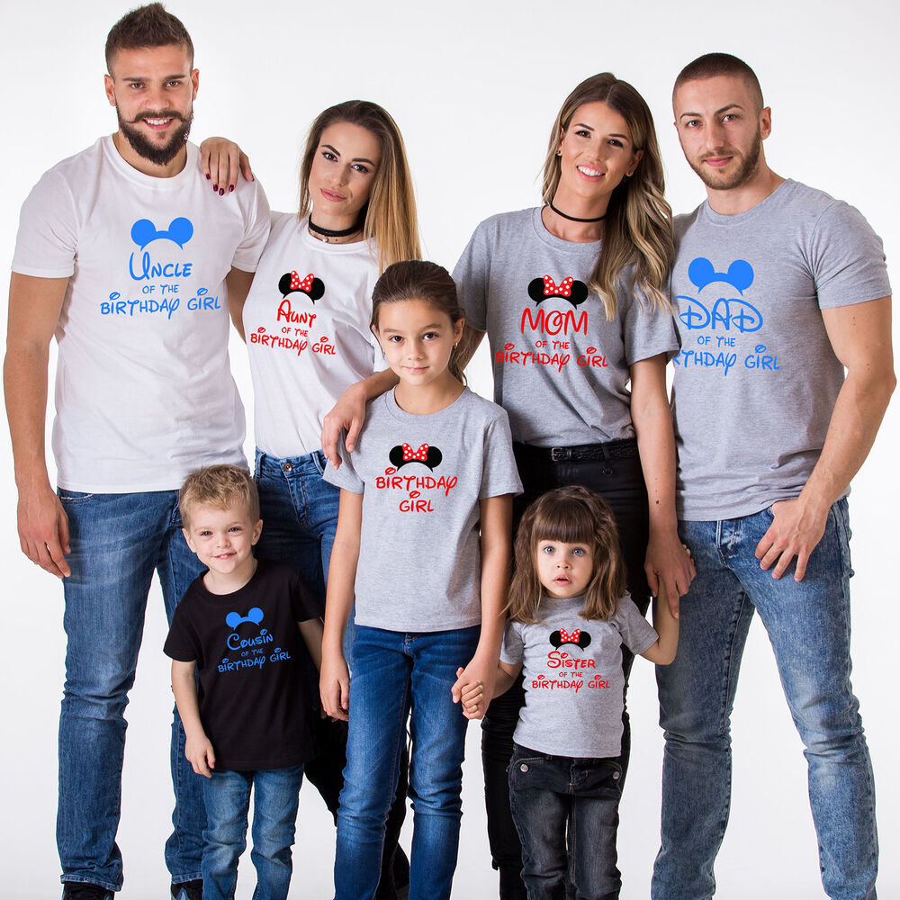 Birthday Family Shirts Matching B-Day Outfits Kids Tees ...