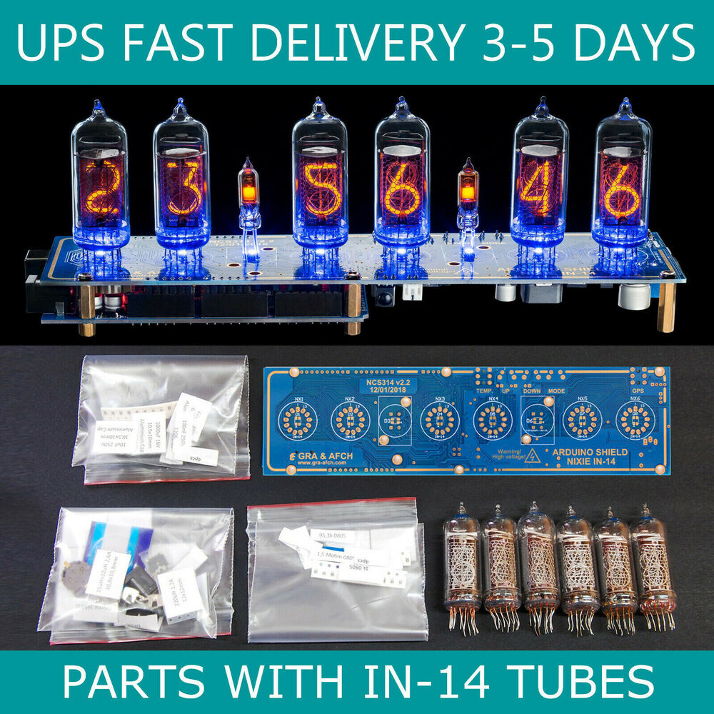 Diy kit nixie tubes clock arduino shield ncs on in