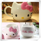 Hello Kitty Ceramic Cup Tea Milk Coffee Mug White Pink Bowknot