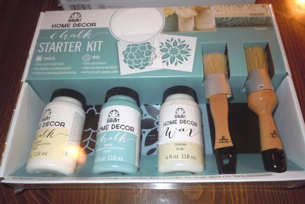 Chalk Paint Starter Kit FolkArt Home Decor Paints Wax
