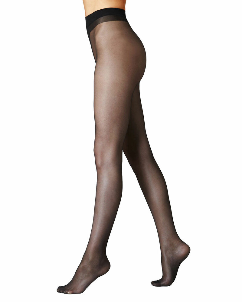 a1487119a1203 Womens Ultra Sheer Tights Natural Cooling 10 Denier Pantyhose Black -Nude  -T IL | eBay