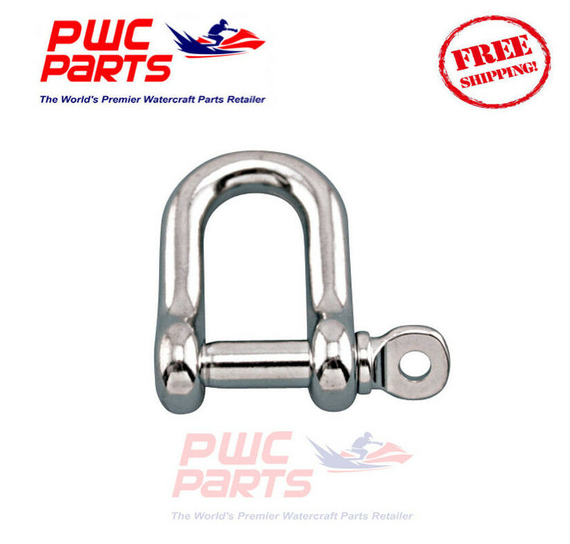 """SENECA Marine Stainless Steel 316 STRAIGHT D Shackle w Pin Boat Anchor 5//32/"""""""