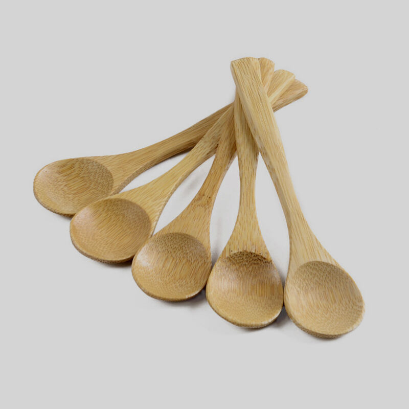 Kitchen Spoons: 5PCS Wooden Spoon Bamboo Kitchen Cooking Utensil Tool Soup