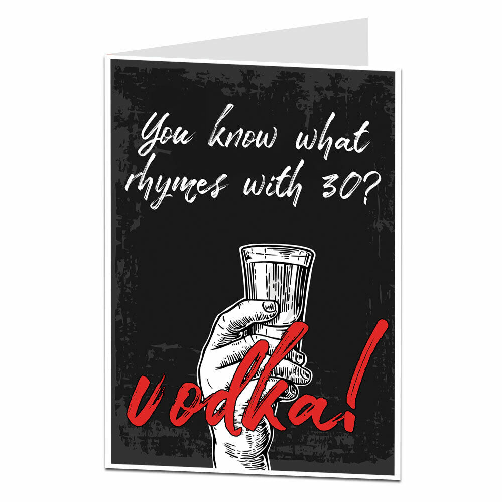Top 30 Funny Birthday Quotes: Happy 30th 30 Birthday Card Funny Joke Brother Sister Mate