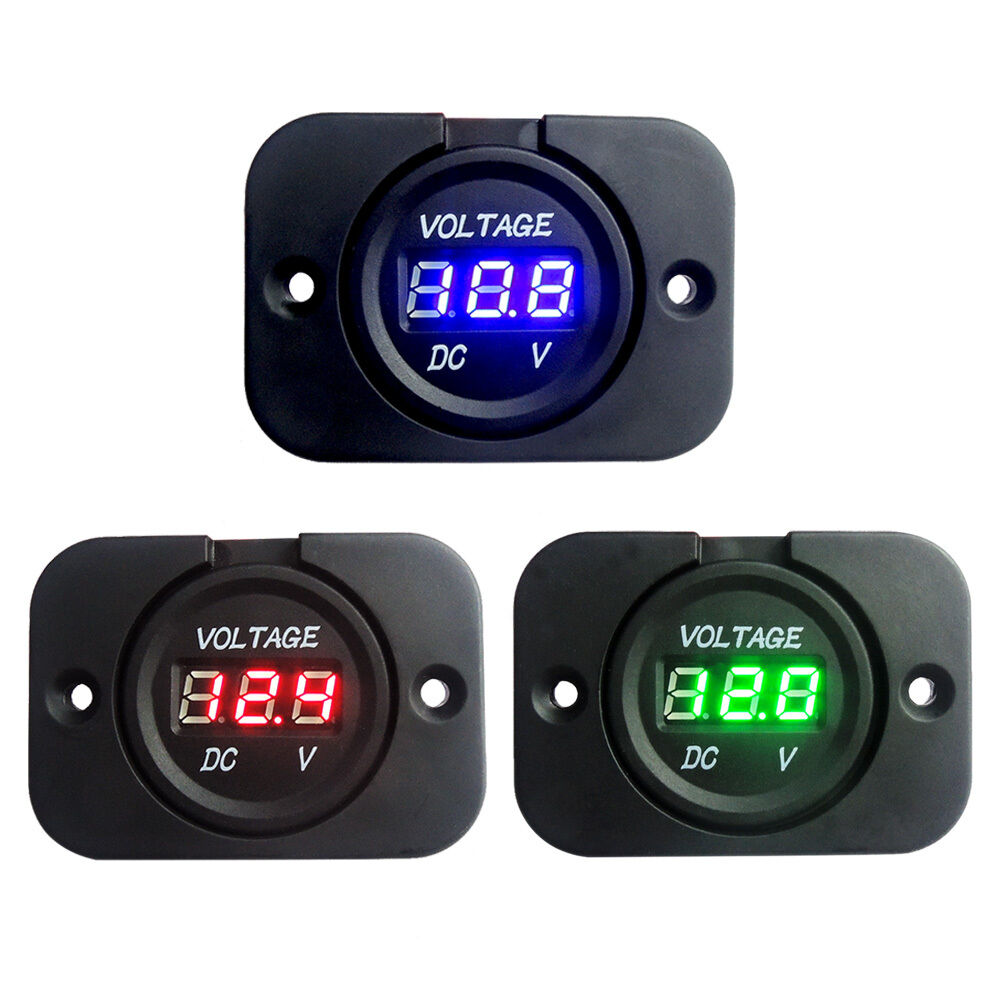 12 Volt Panel Meter : Dc v led digital display voltage panel meter