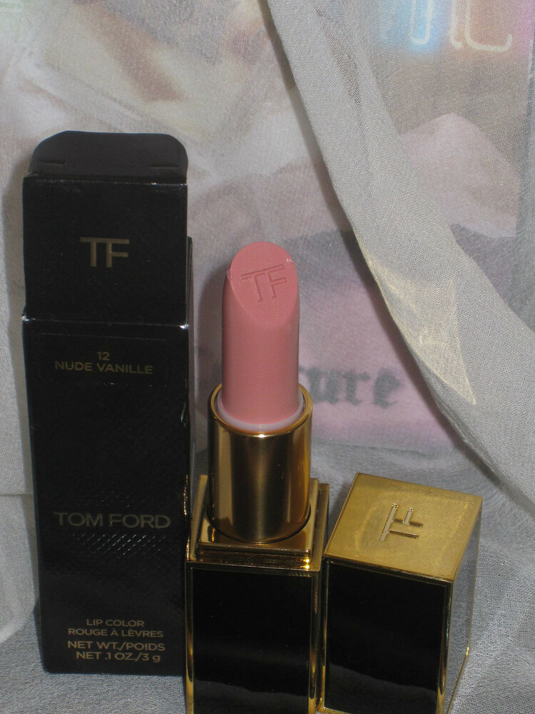 nib tom ford lipstick in nude vanille 12 new packaging. Black Bedroom Furniture Sets. Home Design Ideas
