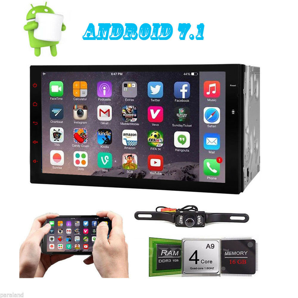 7 android 7 1 4g wifi in dash 2din car radio gps stereo bluetooth no dvd player ebay. Black Bedroom Furniture Sets. Home Design Ideas