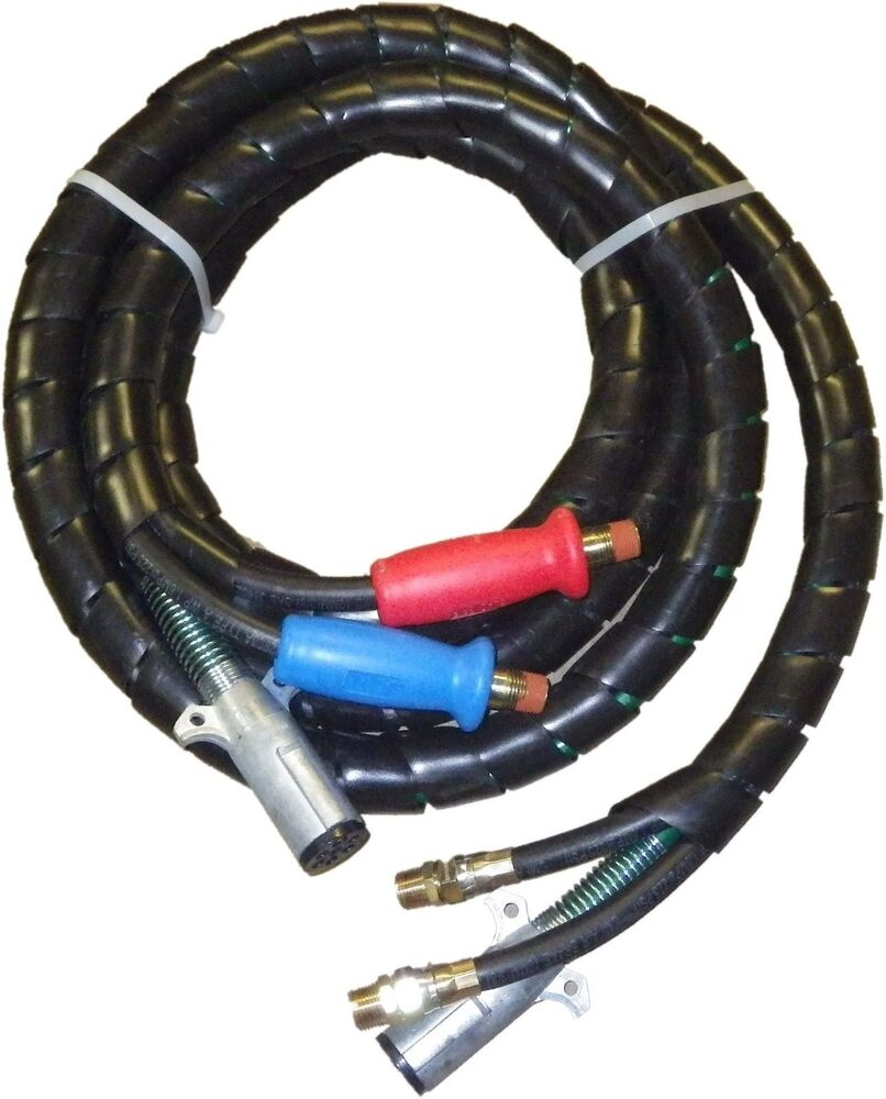 Tractor Air Lines : Air power electric line cord hoses dot approved abs in