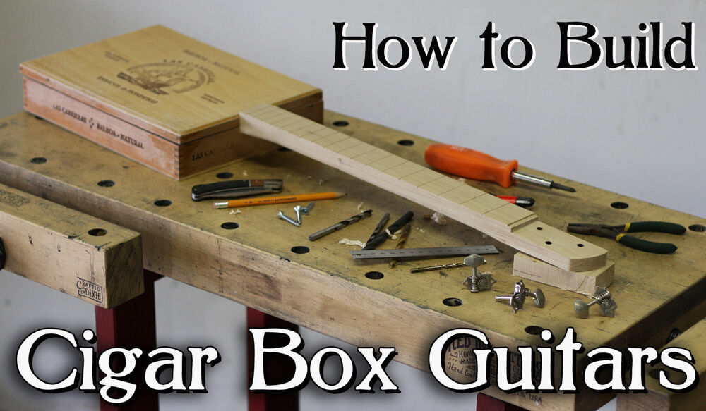how to build a cigar box guitar 3 4 string use your own neck pickup or kit ebay. Black Bedroom Furniture Sets. Home Design Ideas