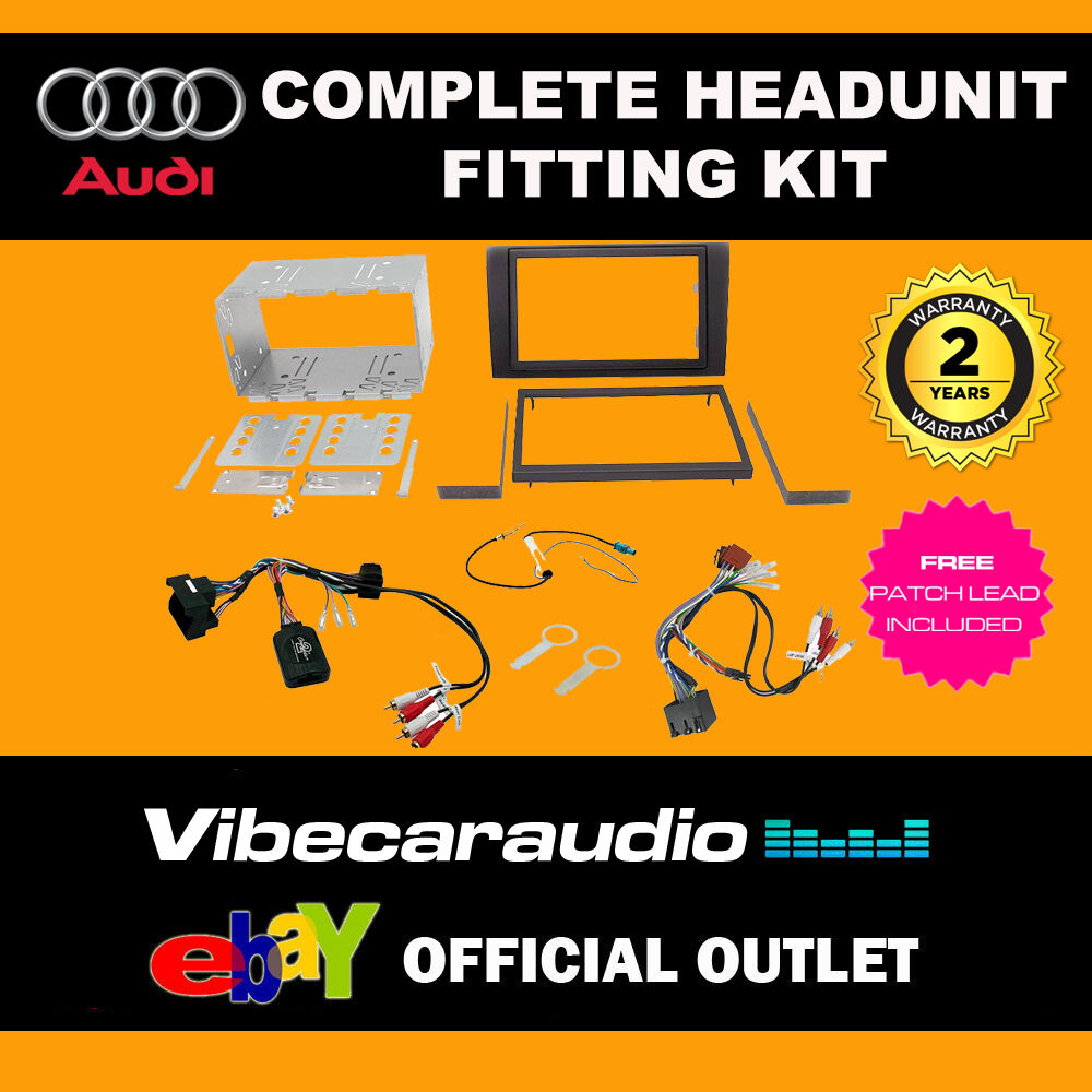 Connects2 Ctkau02 Car Stereo Double Din Fascia Control Kit For Full Bose Cd Fitting Wiring Harness Ebay Audi A4 02 06