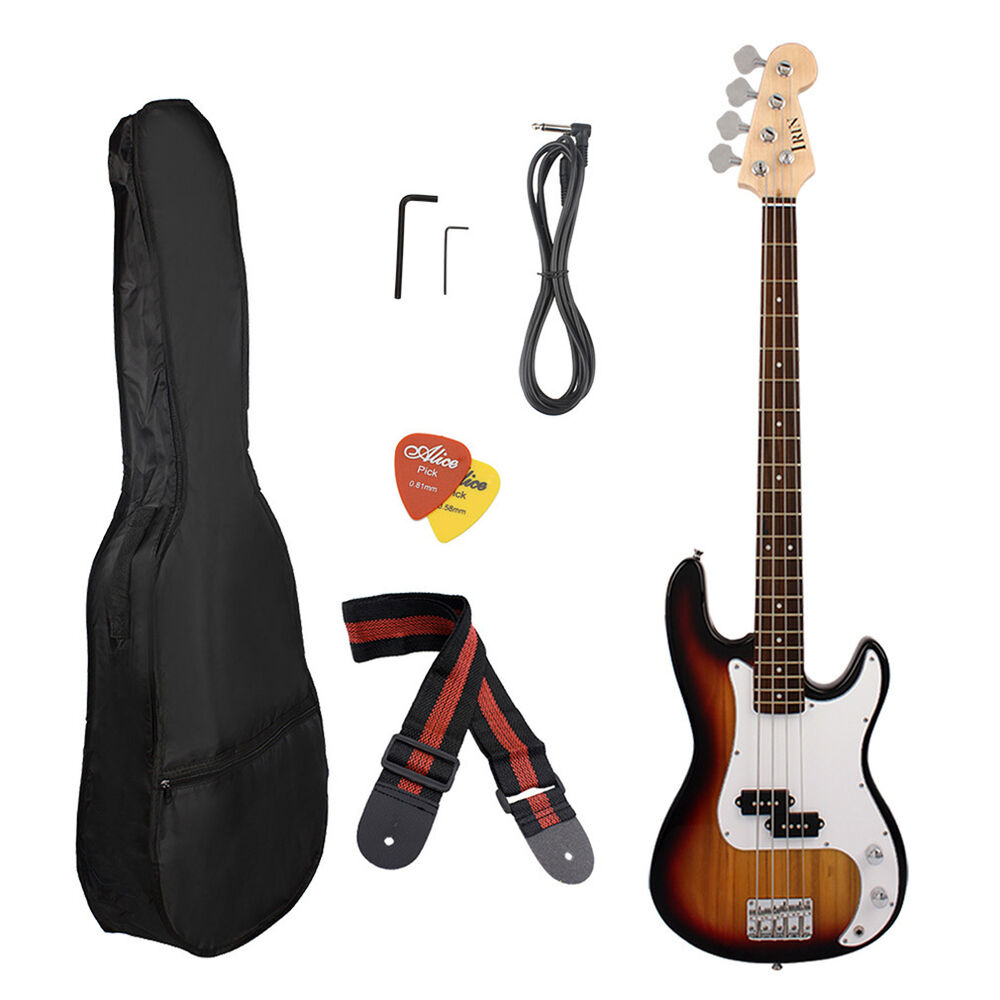 new full size 4 strings electric bass guitar amp cord gigbag new ebay. Black Bedroom Furniture Sets. Home Design Ideas