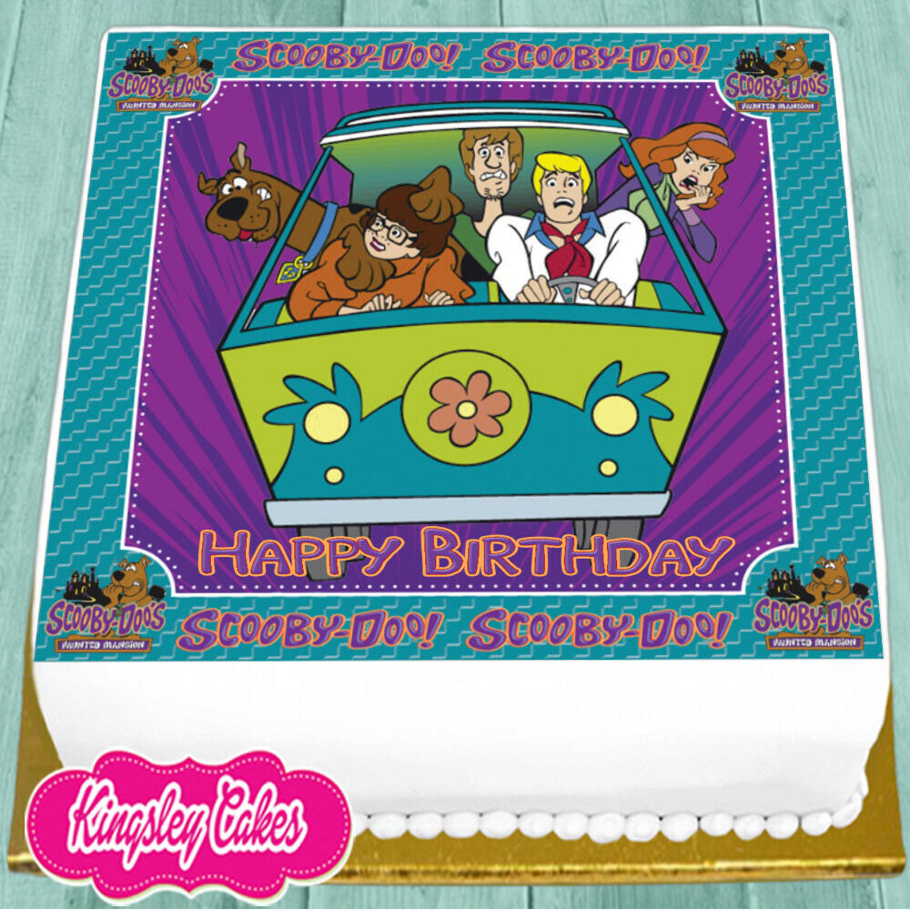 PRECUT EDIBLE ICING 7.5 INCH SCOOBY DOO HAPPY BIRTHDAY ...