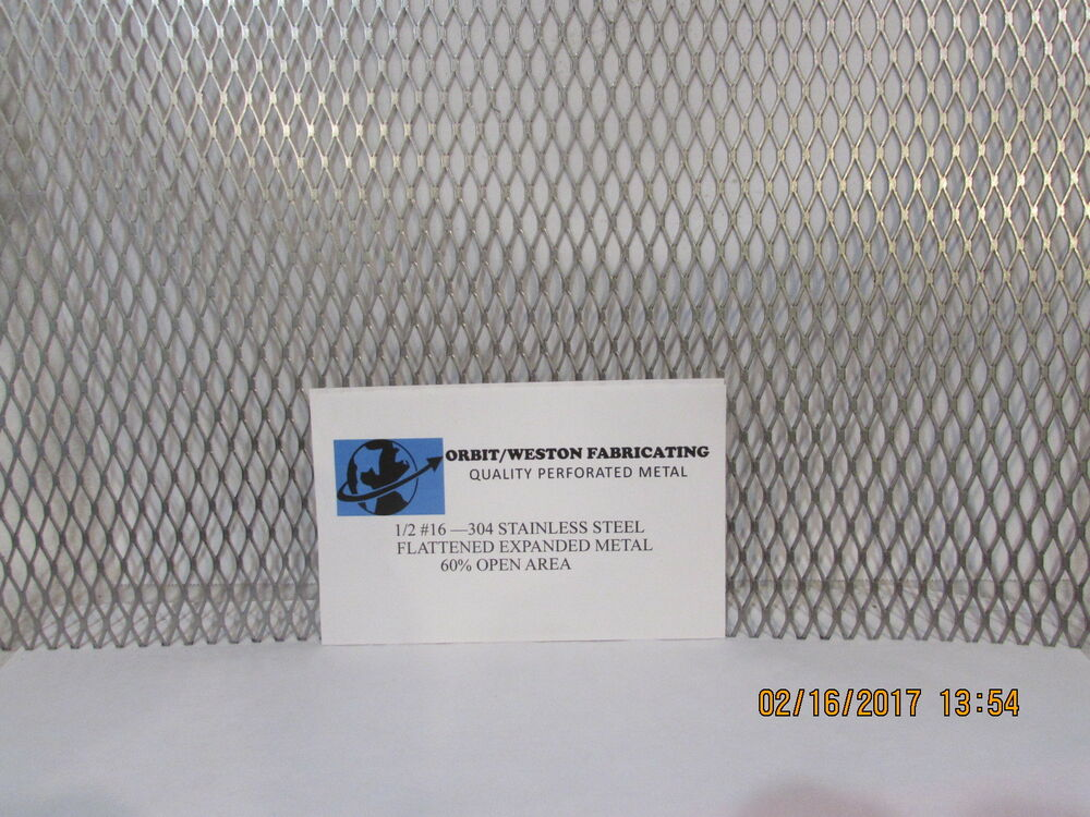 Stainless steel flattened expanded metal