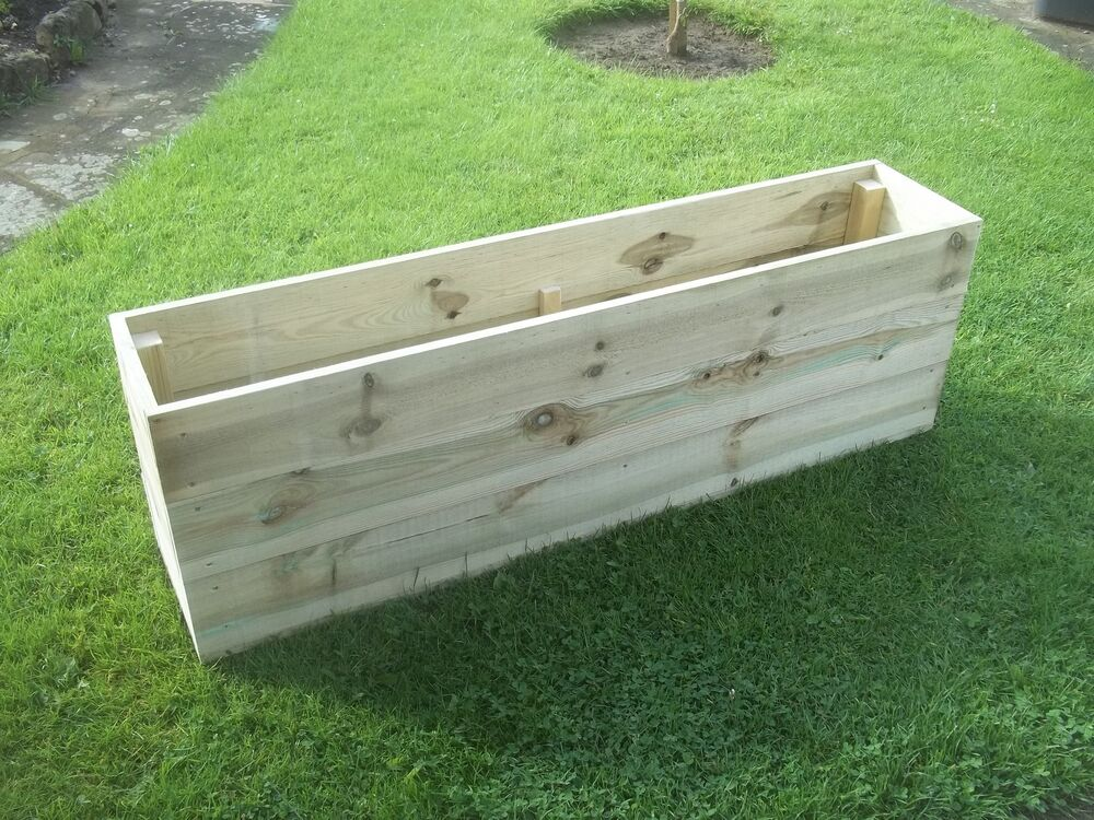 Large, Wooden Garden Planter, Raised Bed 6 Ft Long.