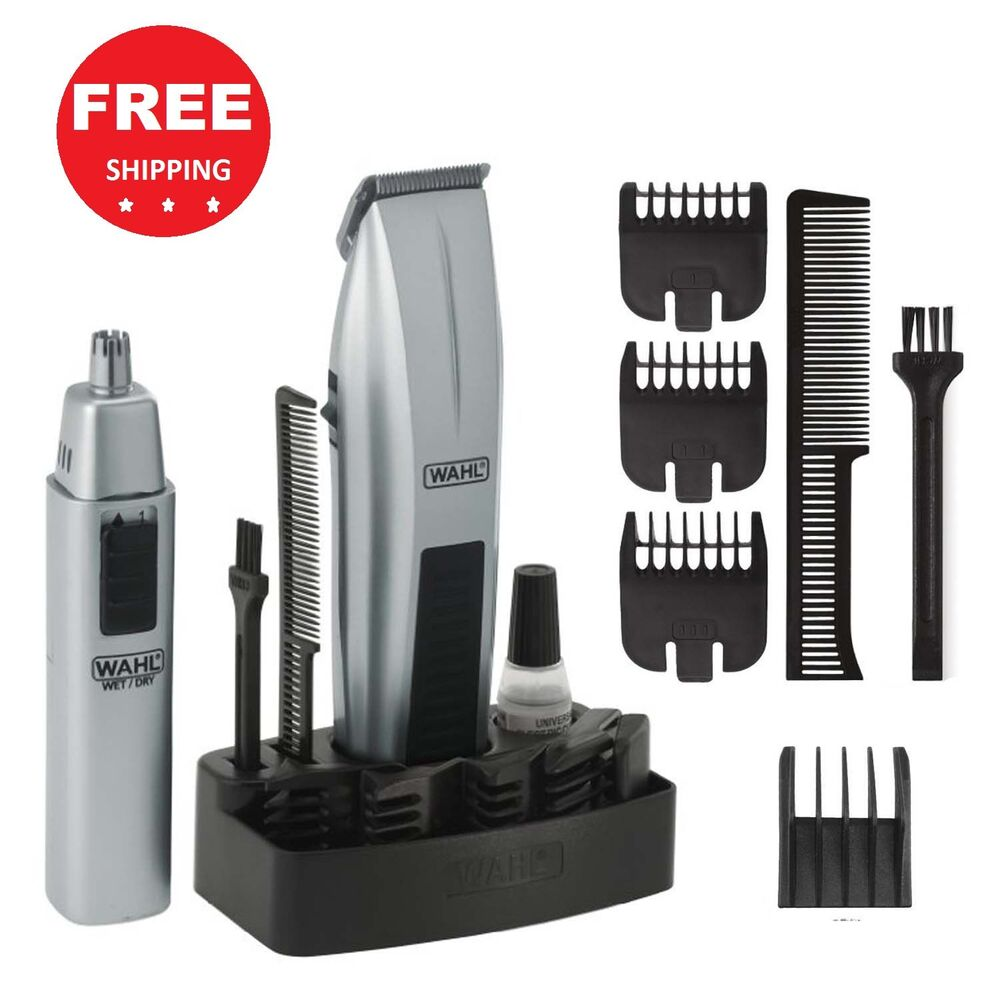wahl mustache beard trimmer shaver set clipper hair cut groomer ear nose brow g ebay. Black Bedroom Furniture Sets. Home Design Ideas