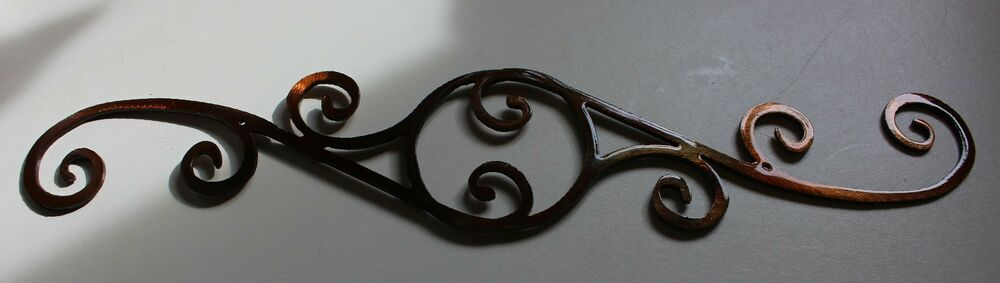 Outdoor Wall Art Metal Scroll : Decorative scroll quot metal wall art decor
