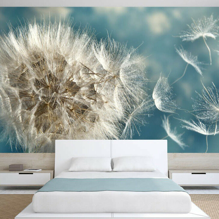 fototapete vlies pusteblume tapete tapeten fototapeten. Black Bedroom Furniture Sets. Home Design Ideas