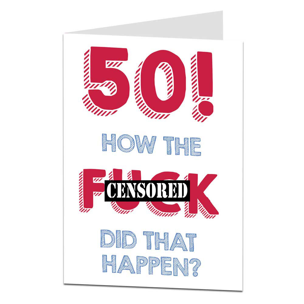 50th Happy Birthday Card For Men Women Sister Husband Wife