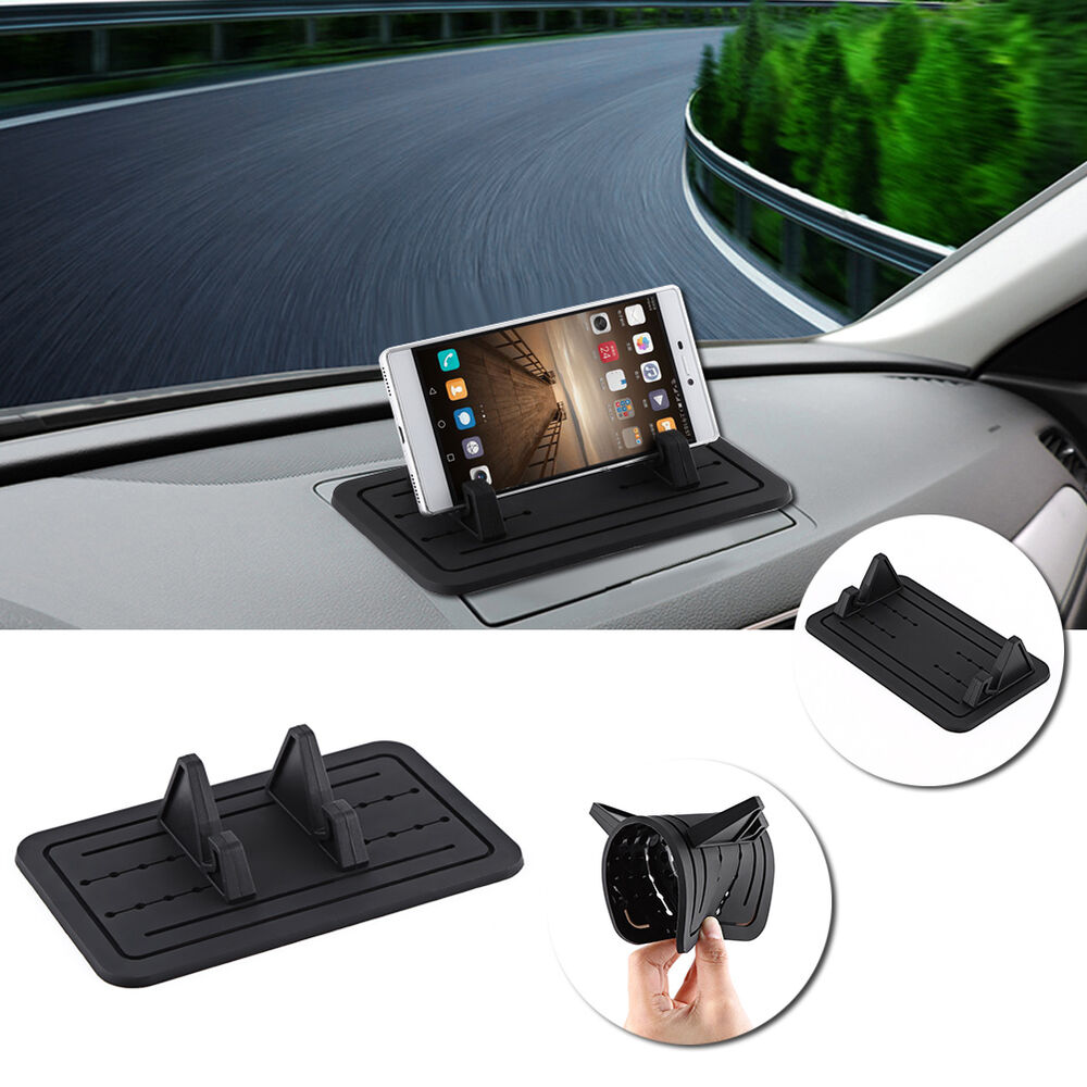 Car dashboard mount holder silicone gel pad dash mat for mobile phone gps bt ebay - Notepad holder for car ...