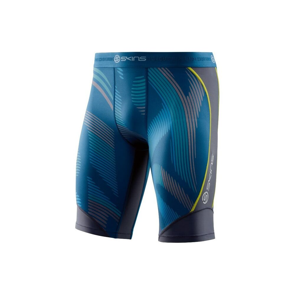 a548ebe45fd50 Details about SKINS Men's DNAmic Compression Half Tights 1/2 Run Running  Endurance Exercise