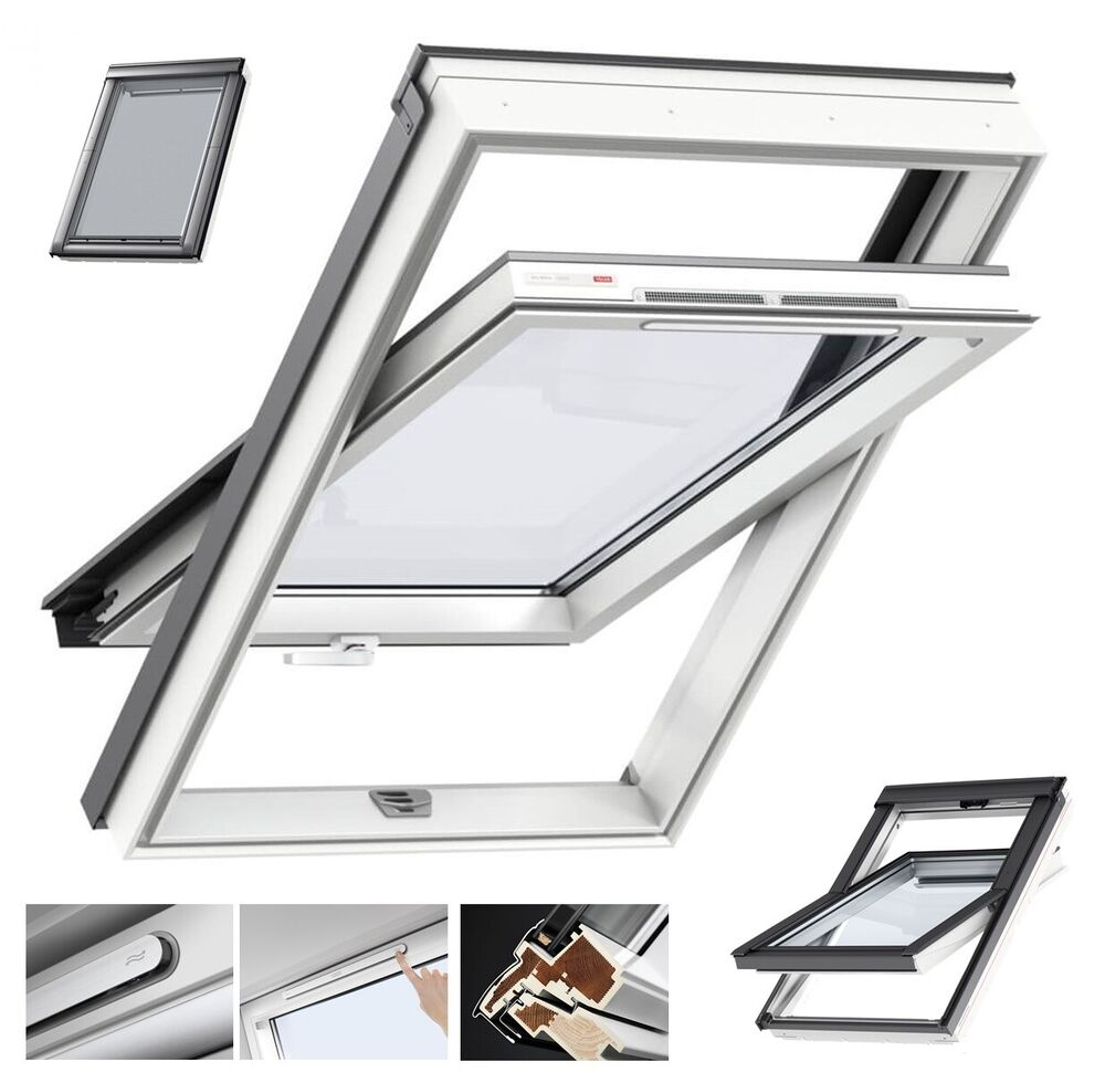 velux dachfenster schwingfenster kunststoff boden griff uw 1 3 eindeckrahmen ebay. Black Bedroom Furniture Sets. Home Design Ideas