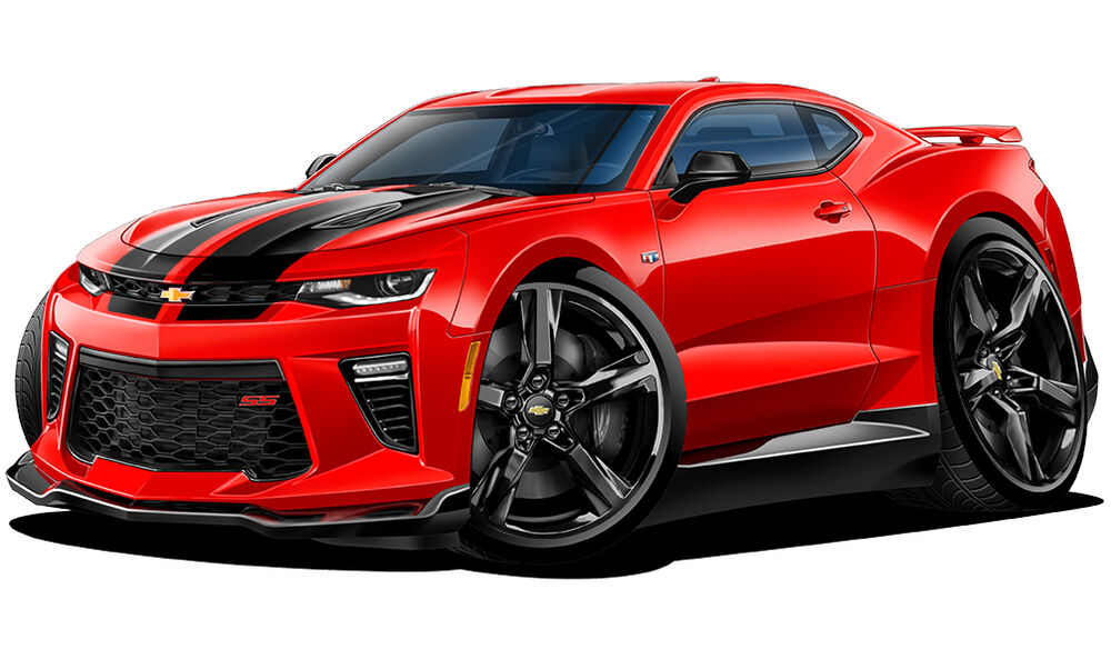 2016 Chevy Camaro Rs Ss Cartoon Car Wall Decal Sticker Graphic Man Cave Room New Ebay