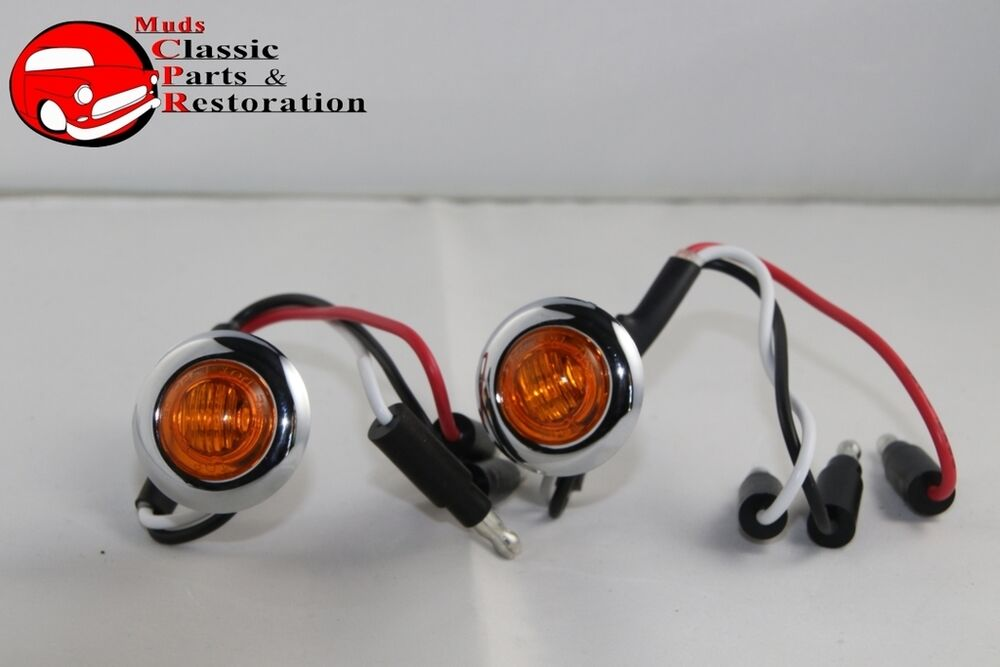 Hot Rod Turn Signals : Dual function mini amber stainless turn signal blinker