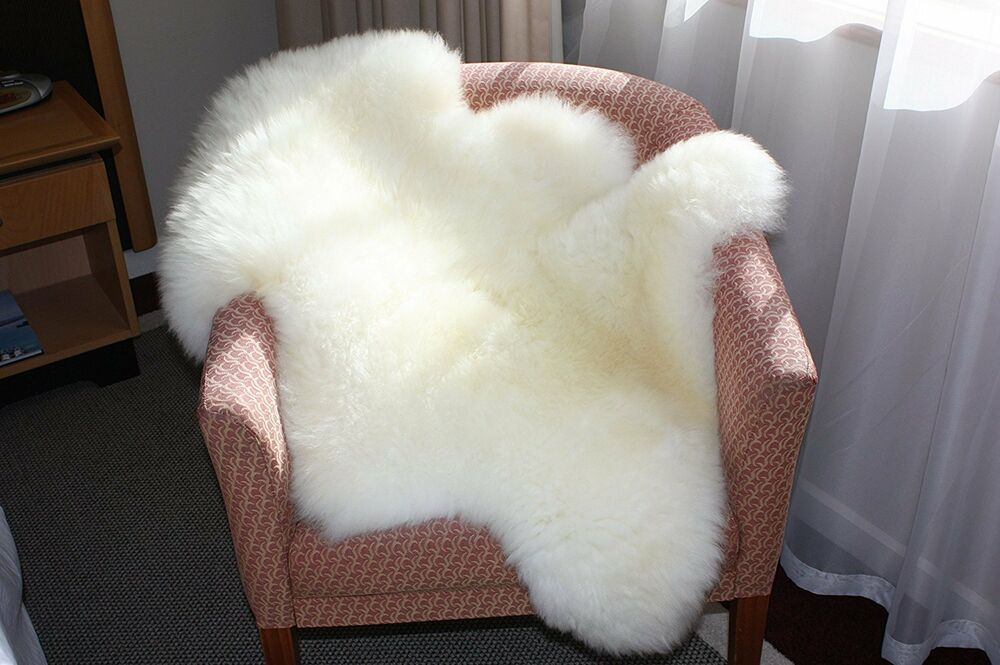 Genuine Single Sheepskin Rug Sheep Skin Fur Pelt Big